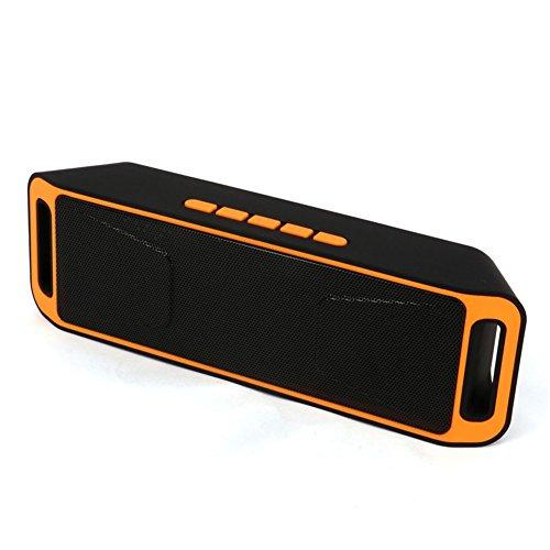 Enceinte Blutooth, Neissstar Haut Parleur Blutooth Mains Libres Téléphone, Carte TF Support,Compatible avec IPhone, IPad, Samsung etc (Orange)