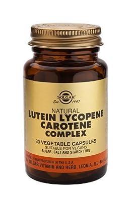 Solgar - Lutein Lycopene Carotene Complex, 30 veggie caps