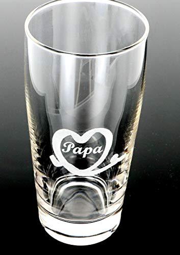 Bierglas, Bierkrug, Weizenglas mit Gravur Wunsch-Motiv und Wunsch-Name, Text personalisiert, Geschenkidee für Bierfreunde, Glas: :Bier 0.3l (Personalisierte Gläser Bier)