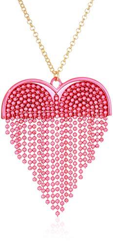 Betsey Johnson (GBG) Damen Halskette mit Herz-Anhänger Pink Pink Multi, One Size Betsey Johnson-shop