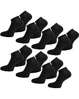 15 Paar normani® Sneaker Socken mit hohem Baumwollanteil für Damen und Herren in Schwarz oder Weiß