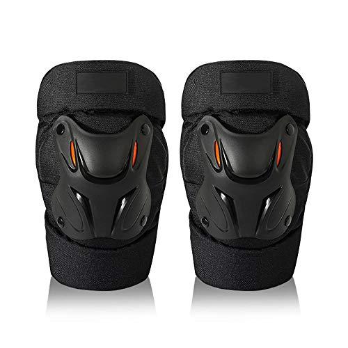 Motorradfahren, bruchsichere Knieschützer, Schutzausrüstung für Offroad-Rennen, Zweiteilige Rollschuh-Schutzausrüstung für Outdoor-Sportarten@schwarz_F