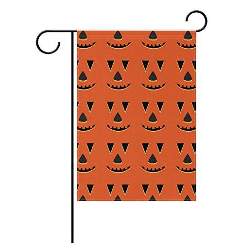 rbis Gesichter Muster Polyester Garten Flagge im freien Flagge Home Party Garten Dekor, doppelseitig, 28 x 40 (Kürbis Halloween-gesichter-muster)