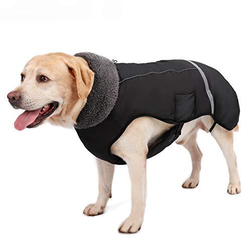 TFENG Giacca per Cani Riflettente, Cappotto per Cani Impermeabile Cappotto per Neonato Imbottito per Uccelli Cucciolo Impermeabile con Felpa per Cani, Taglia S a 3XL