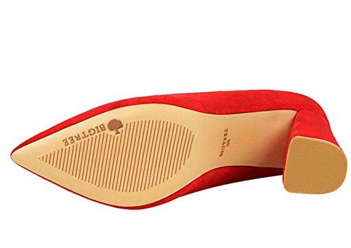 Le Scarpe Da Donna CHENDH Hanno Calzato Le Scarpe Da Lavoro Professionali Con Una Bocca Liscia Red