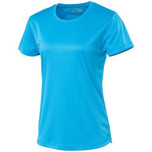 T-shirt sport uni Just Cool pour femme Bleu - Sapphire Blue