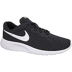 Nike Tanjun GS, niño/a, zapatillas de running, sneakers, gimnasio, carrera, Unisex adulto mujer, negro-blanco