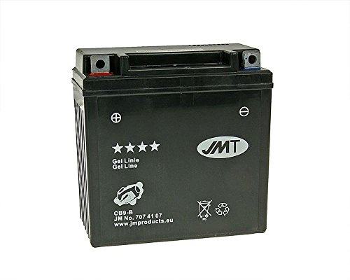 Batterie JMT GEL - YB9-B / 12N9-4B1 12 Volt - Aprilia SR 50 R LC dit Factory VFB00 Bj. 2005-2012 [ inkl.7.50 EUR Batteriepfand ]