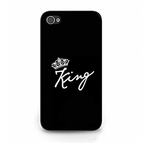 Iphone 4/4s Case,Fashionable King Queen Crown Couple Phone Case Cover for Iphone 4/4s Best Friends Boyfriend Girlfriend Lovers Shell Cover Color093d