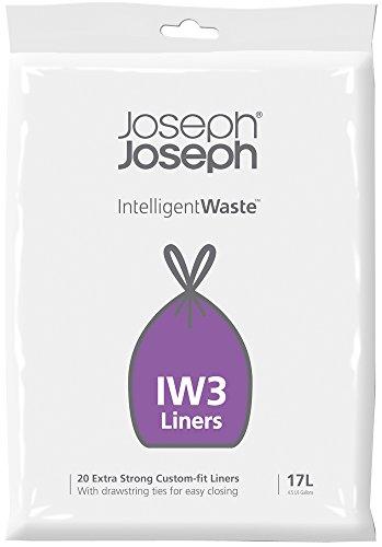 Joseph Joseph Sacchetti 17 Litri, Plastica, Trasparenti