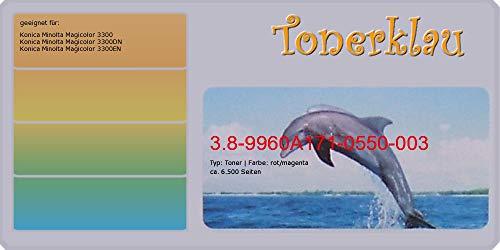 Magicolor 3300 Toner Magenta (Toner kompatibel zu Konica Minolta 17105503, 171-0550-003, Farbe: magenta, kompatibler Toner 3.8-9960A171-0550-003, geeignet für: Magicolor 3300 Magicolor 3300DN Magicolor 3300)