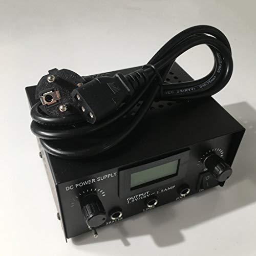 Professionelle Gleichstromversorgung LCD Digital DUAL Tattoo Netzteil Spannungsstabilisator Transformator für Tattoo Maschine - Schwarz