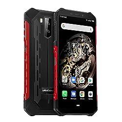 Ulefone Armor X5 4G Outdoor Handy 32GB Speicher 3GB RAM, 5,5 Zoll, 5000mAh Akku, 13MP+ 5MP Kamera, Android 9, IP68 Smartphone Wasserdicht Stoßfest Staubdicht, NFC Kompass Global LTE Version - Rot