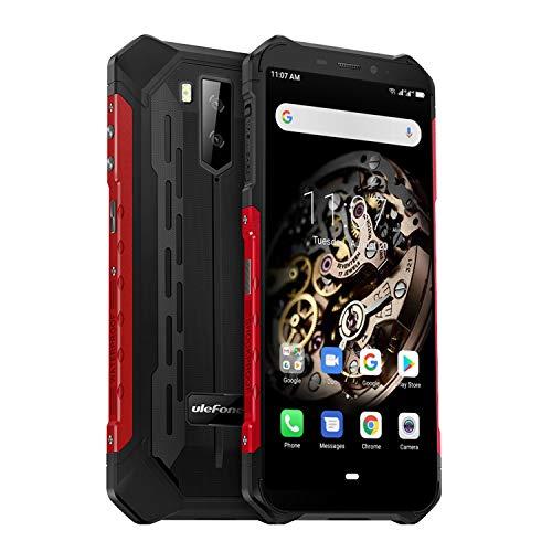 Ulefone Armor X5 (2019) 4G Outdoor Handy NFC (5,5 Zoll Display, 3GB + 32GB, Android 9.0, 5000mAh Akku, IP68 Smartphone wasserdicht stoßfest staubdicht, Dual SIM 4G LTE, Kompass, OTG) Rot