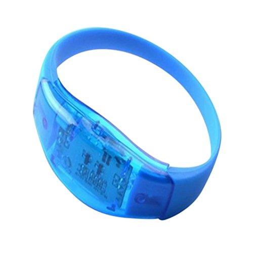 LED-Armband mit Sprachaktivierung sunnymi Go Outdoors Für Party Rave Konzert LED Licht Sprachsteuerung Armband Armreif Sound Aktiviert (F, 1.5*16.5*23.5CM) Sound Aktiviert Led-licht
