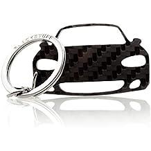BlackStuff Llavero De Fibra de Carbono Cadena De Claves Compatible con Mazda MX-5 NB