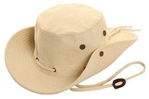 Herren Busch Hut Hawkins Leinen Safari Australien Hut Beige Grün Stein S M L XL - Stein, S -