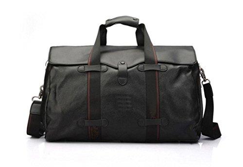 RTZLL Mobile Business Tasche Männer Freizeit Reisen Ledertaschen große Leder-Rucksäcke Black