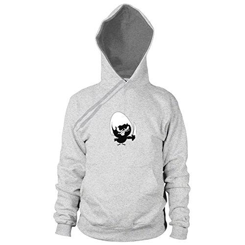 Evil Chick - Herren Hooded Sweater, Größe: L, Farbe: grau ()