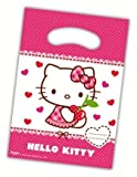 Procos-Set di 6buste regalo Hello Kitty Hearts per anniversario di bambini con manico