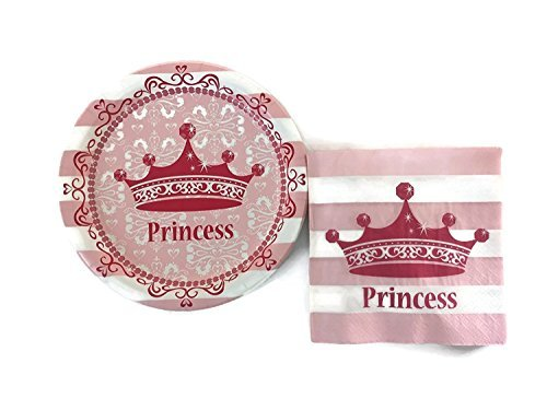 Celebration Party Supply Prinzessin Party Bundle 22,9 cm Teller (16) Mittagessen Servietten (16)