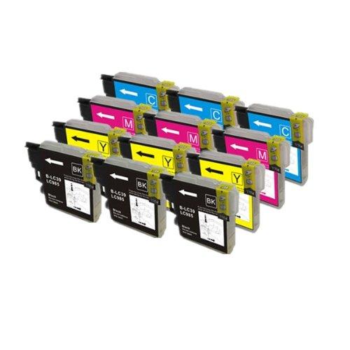 PerfectPrint - 12 cartuchos de tinta LC-985 de impresora compatible pa
