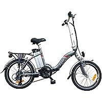 E-scape Vélo à Assistance Electrique Pliant 20'' 36V 10,4Ah Gris foncé nacré