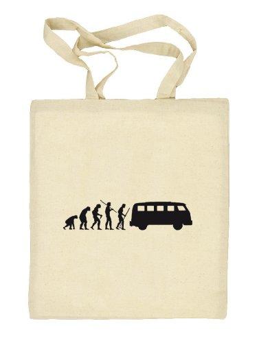 Shirtstreet24, EVOLUTION KULT BUS, Stoffbeutel Jute Tasche (ONE SIZE) Natur