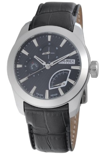 Haurex Italy Mens Watch 1A356UGG Magister G with Grey Dial and Grey Leather Strap