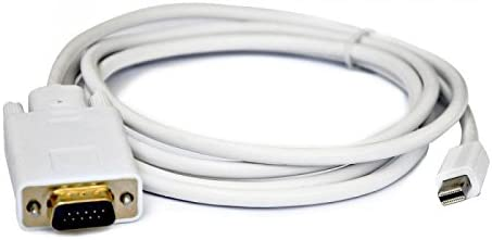 LipiWorld Mini Display Port Mini DP to VGA Male Cable Adapter for MacBook Pro Air-MIPIDP to VGA Cable-1.8M