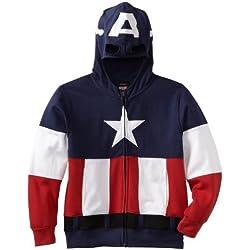 Capitán América Chaqueta de forro polar sudadera con capucha