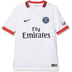 Nike 2ème équipement Paris Saint Germain 2015/2016-Maillot Officiel pour Enfant M Blanco/Azul Marino (Football White/Midnight Navy)