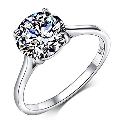 ZHOUYF RING Verlobungsringe 925 Silber Schmuck Anillos De Plata AAA Qualität Zirkonia Engagement, 9Mm, 8# (Ehering Plata)