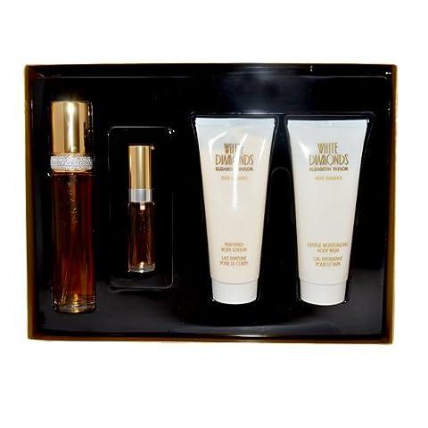 Elizabeth Taylor White Diamonds Gift Set (50ml EDT + 10ml EDT + 100ml Body Lotion + 100ml Gentle Moi