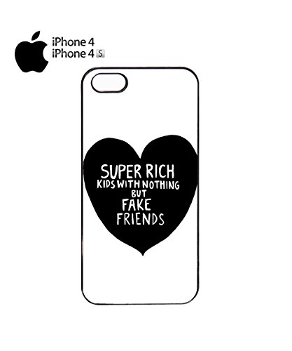 Super Rich Kids With Nothing But Fake Friends Heart Mobile Phone Case Cover iPhone 6 Plus + Black Noir