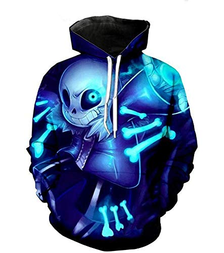 Estrange Maefte Undertale Sweater Blue Cosplay coustumes sans Taro Hooded 18Months