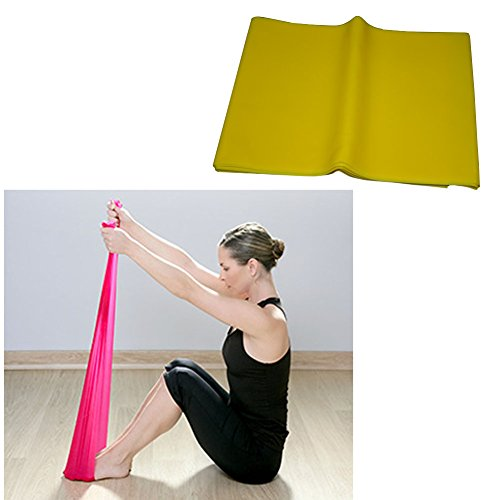 E Support™ 1.5m Yoga Pilates Stretch-Widerstand-Band-Übungs-Eignung-Band Trainings elastische Übungs-Fitness-Gummi Stretch Elastic Power Weight Bands