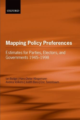 Portada del libro Mapping Policy Preferences: Estimates for Parties, Electors, and Governments 1945-1998 by Ian Budge (2001-10-18)
