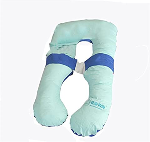 XXFFH® Pregnant women Protect the waist pillow side-sleep pillow maternal pillow , light green