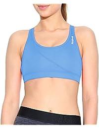 Reebok PlayDry - Sujetador deportivo Mujer - Running Gimnasio Fitness Sin mangas - Azul - S