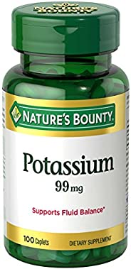 Nature's Bounty Potassium Gluconate, 595 mg, 100 Cap
