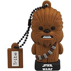 Tribe Star Wars Chewbacca Chiavetta USB da 16 GB Pendrive Memoria USB Flash Drive 2.0 con Portachiavi, Idee Regalo Originali, Figurine 3D