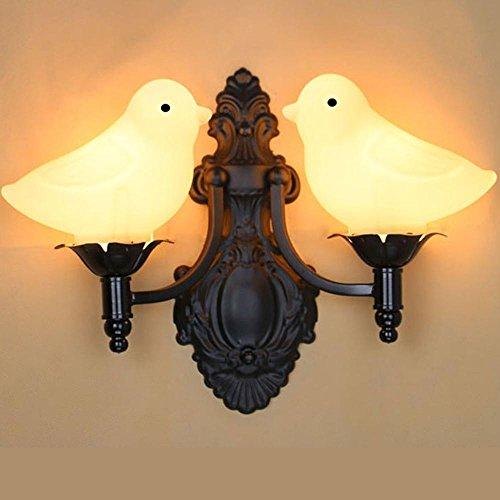 Retro Kreative Wandleuchten Flur Treppenhaus Dekorative Wandlampe Schlafzimmer Schlummerlampe Vogel gestalten Licht-Schatten Design Wand Leuchten Wand Lampe E27 × 2,28CM×38CM