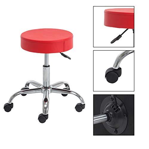 heyesk Rollstuhl, rund, verstellbar, mit Rollen und Metallgestell rot - Unternehmen Store-kissen