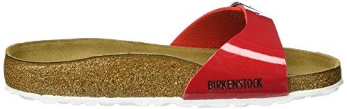 Birkenstock Madrid Birko-Flor, Mules Femme Rouge (Tango Red Lack 308)