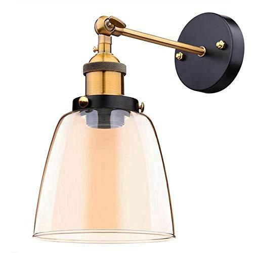 Dachboden Retro Wandleuchte Ovale transparente Glas Design Wandlampe