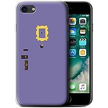 Stuff4 Gel TPU Phone Case/Cover for Apple iPhone 7/Monica's Purple Door Design/Funny Sitcom TV Parody Collection