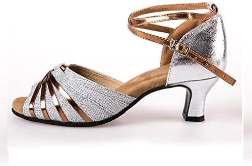 Jingsen Zapatillas de baile latino Mujer adulta con suaves zapatos de baile de fondo Salón de baile de verano...