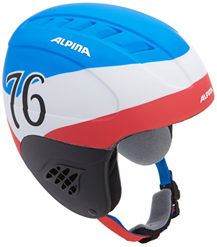 Alpina Kinder Skihelm Carat L.E., Blue-White Matt, 54-58, 9042381