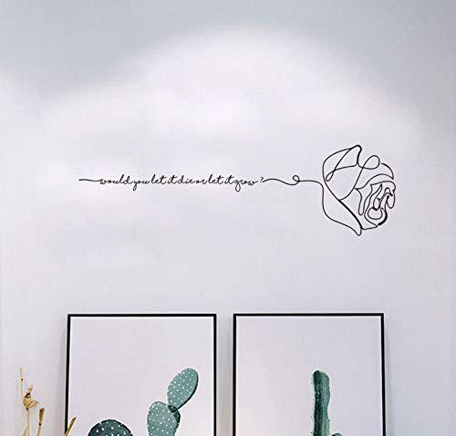 Mission Möbel Muster (Wandaufkleber Wohnzimmer Wandaufkleber Schlafzimmer Diy Vinyl Aufkleber Rose Papier Kreative Persönlichkeit Muster Schlafsaal Hintergrund Dekoration Aufkleber 18 * 60 Cm)